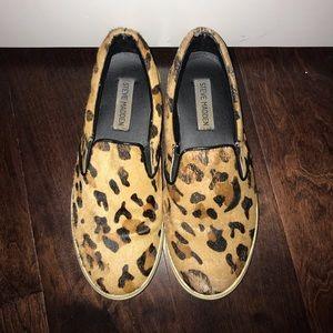 Cheetah print Steve Madden slip ons
